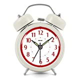 Modern Fashion Lovely Colorful Metal Alarm Clock Cream 921