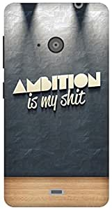 The Racoon Lean ambition hard plastic printed back case for Microsoft Lumia 535