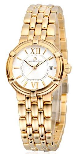 Maurice Lacroix Calypso CA1104-YP016-110-1 - Reloj de pulsera para mujer, acero inoxidable, cristal de zafiro y mecanismo de cuarzo, sumergible a 100 m, color dorado