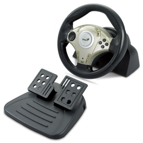 Genius Twin Vibration Feedback F1 Racing Wheel