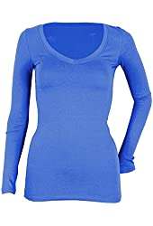 G2 Chic Women's Casual Comfortable Long Sleeve Stripe Pattern Top