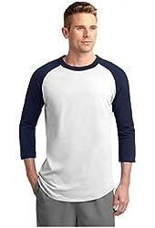 G Zap Men's Cotton Knit Baseball Raglan T-Shirt Top