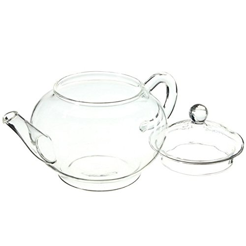 (12673-i) 250ML 8.5OZ GLASS TEAPOT HEAT RESISTANT TEA KETTLE