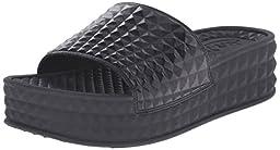Ash Women\'s Scream Slide Sandal, Black, 39 EU/9 M US