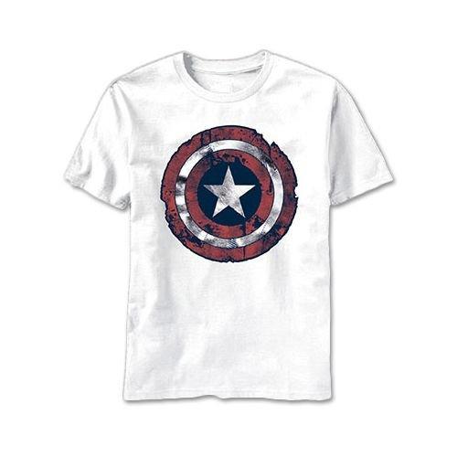 キャプテン・アメリカ バトル シールド メンズ ライトウェイト Tシャツ