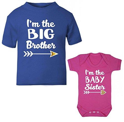 d2-set-regalo-i-m-the-big-brother-i-m-the-baby-sister-royal-blu-e-fucsia-maglietta-e-body-set-dispon