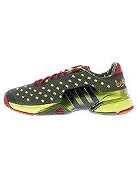 Adidas Men's Barricade 2015-Great Wall-Tennis Shoes-Base Green/Black/Vivid Red