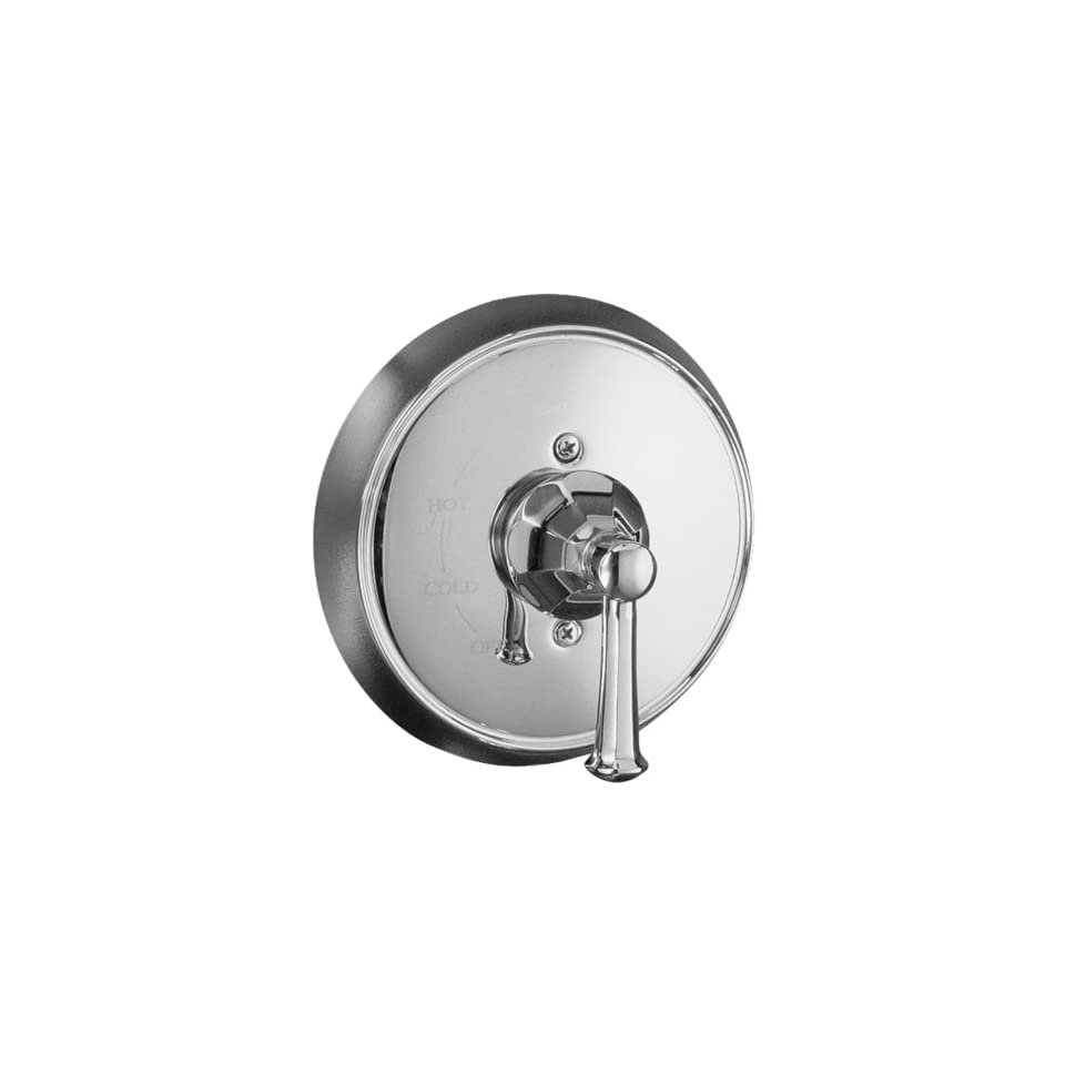 Kohler K T466 4C CP Memoirs Rite Temp Pressure Balancing Valve Trim with Classic Design, Polished Chrome