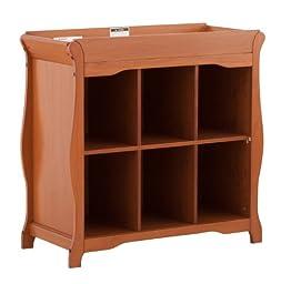 Stork Craft Aspen 6 Cube Organizer/Change Table, Oak