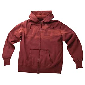 UFC Men's Unraveled Zip Hoodie (Burgandy, Medium)