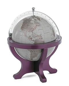Mappamondo da scrivania in legno e plexiglass base viola casa e cucina - Accessori bagno plexiglass amazon ...