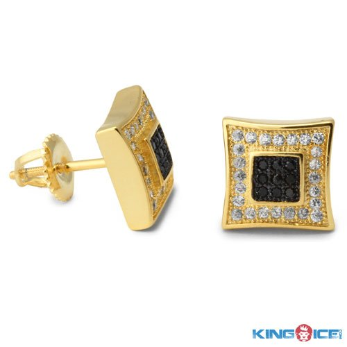 King Ice Yellow and Black Pit Earrings