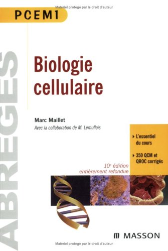 Biologie Cellulaire Pcem1 (French Edition)