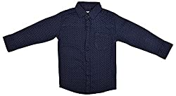 Zedd Boys' Cotton Shirt (E-C Zks1071C_18, Blue, 18)
