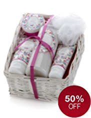 Floral Collection Vintage Forget-Me-Not Pamper Hamper