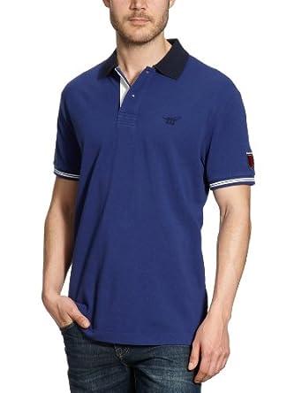 Henry Cotton's Herren Shirt/ Poloshirt 110128309881/Kurzarmpolo, Gr. 52 (XL), Blau (blau 749)