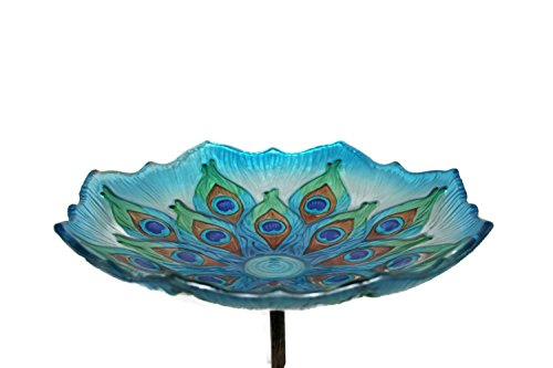 Evergreen Enterprises EG2GB209 Peacock Birdbath on Stake