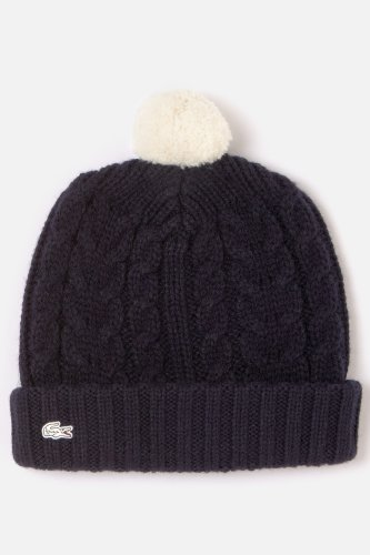 L!VE Women's Pom Pom Cable Knit Beanie