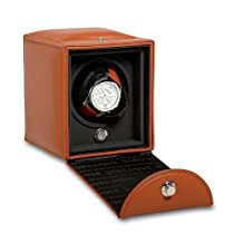 Single Leather Watch Winder with Watch Storage Box