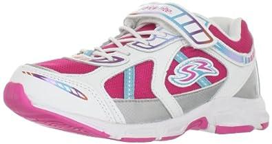 Stride Rite Sadi Sneaker (Toddler/Little Kid),White/Multi,1.5 W US Little Kid