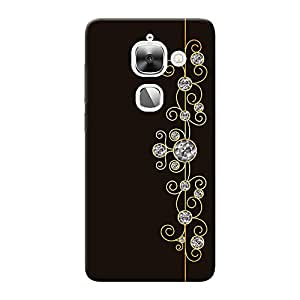 INKIF Abstract Painting Designer Case Printed Mobile Back Cover for LeEcho Le Max 2 (Brown)