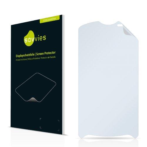Savvies SC50 CrystalClear Displayschutzfolie passend für Sony Ericsson Xperia Pro MK16 MK16i