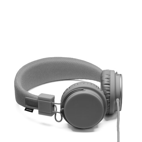 Urbanears Plattan Plus Folding Classic Full Size On-Ear Stereo Headphones With Volume Control For Apple Ipod/Iphone/Ipad - Dark Gray