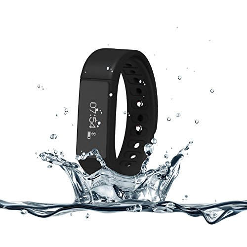 007plus T5 Plus Fitness Tracker Health Sleep Monitor Pedometer Activity Tracker Wristband - Black