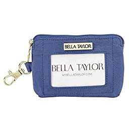 Heritage Blue Microfiber Quilted Cotton ID Please Wallet