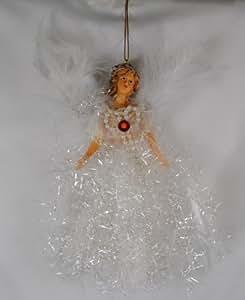 July Ruby Birthstone Angel Hanging Ornaments