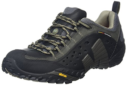 Merrell - Intercept, Scarpe da Arrampicata Basse Uomo, Nero (Smooth Black), 44 EU