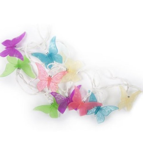 Set of 10 Butterfly plug-in String Lights - Indoor / Outdoor