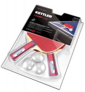 Racchetta da tennis tavolo Kettler TT-racchette da ping pong-set Champ rosso