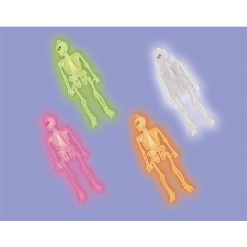 Halloween Neon Skeleton Party Favours x 12