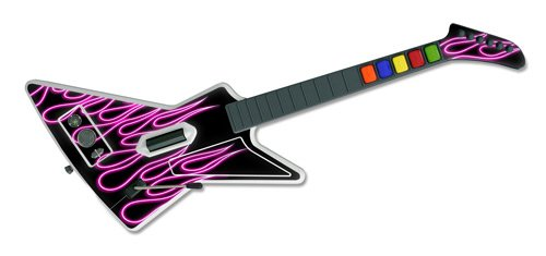 Guitar Hero 2 Skin - Pink Neon Flames