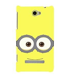 EPICCASE minionglasses Mobile Back Case Cover For HTC Windows Phone 8S (Designer Case)