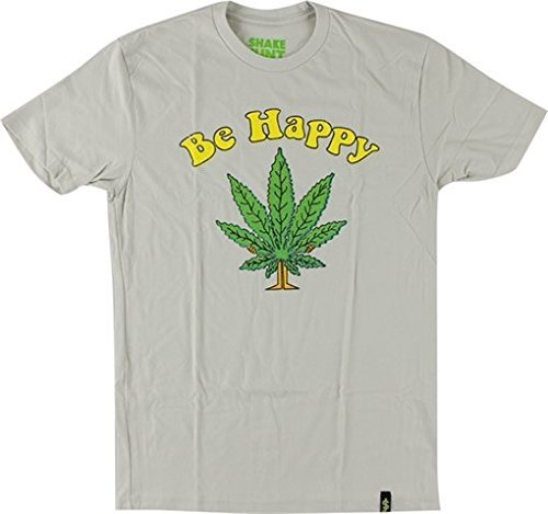 Shake Junt Be Happy T-Shirt - Size: X-LARGE Sand Off White by Shake Junt
