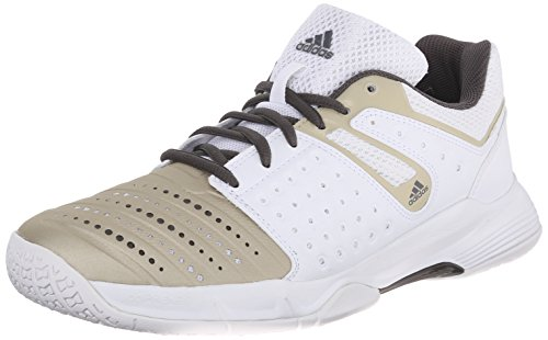 adidas Performance Women's Court Stabil 12 W Volleyball Shoe, White/Star Metallic/Grey, 8.5 M US
