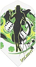 30-3355 - iFlight - 5 Sets of 3 - quotGreen Casino Girlquot - Slim Size Speed Dart Flights - 100 Mic