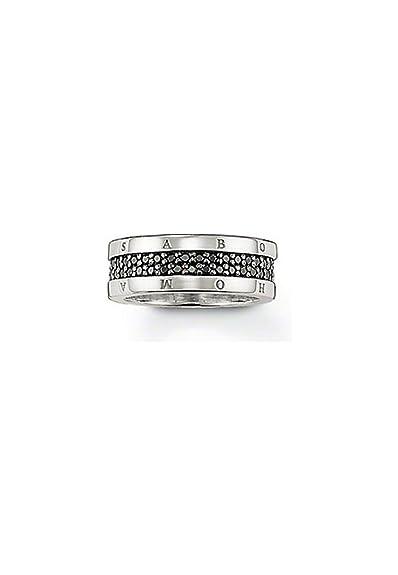 Bijoux pour tous Women  925  silver    Black Zirconium oxide FINERING
