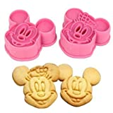 Disney Mickey & Minnie Mouse Cookie Cutters 2pk