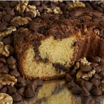 My Grandma CCLGCLN Large- 10 in.- 3.1 lbs Lower Fat Chocolate Chip Coffee Cake#44; No Nuts