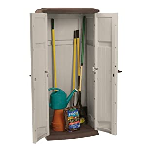 Suncast GS1250B Vertical Tool Shed, 20-cubic ft