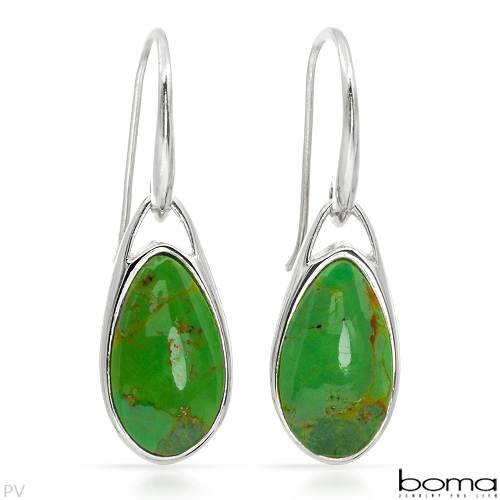 Boma Sterling Silver Turquoise Ladies Earrings. Length 34 mm. Total Item weight 4.3 g.