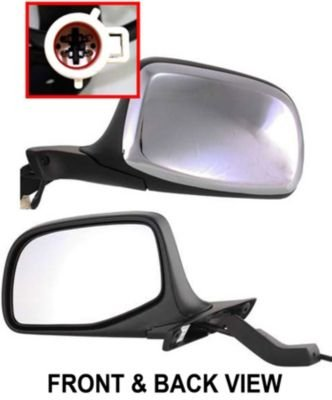 Fit System 72513V Passenger Side Replacement OE Style Manual Remote Folding Mirror