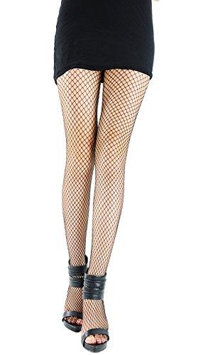 Nylon Fishnet Pantyhose Hosiery - One Size - Dress Size 6-12