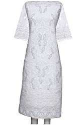 ADA Lucknow Chikankari Hand Embroidered Exclusive Ethnic Kurta Piece Dress Material A18249