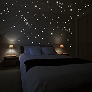 "Wandkings wall stickers ""250 x fluorescent dots for a starry sky"" Fluorescent and glow-in-the-dark by Wandkings.de"