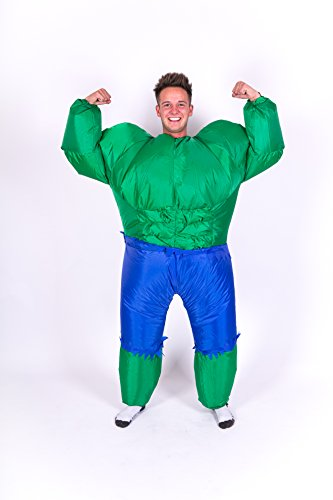 Inflatable Hulk Adult Fancy Dress Costume
