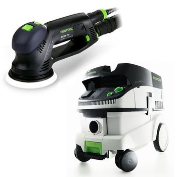 "Festool Ro 125 Feq 5"" Dual Mode Rotex Sander With T-Loc + Ct 26 Dust Extractor Package front-636635"